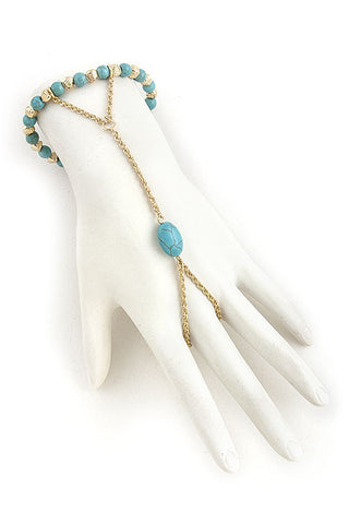 Turquoise Finger Bracelet - My Jewel Candy