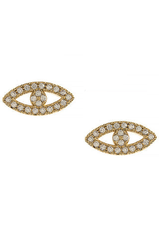 CZ Crystal Eye Earrings - My Jewel Candy - 1
