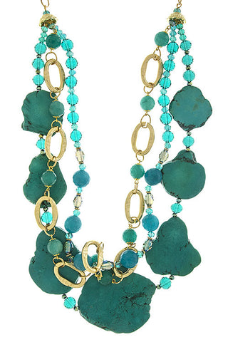 Natural Turquoise Stone Necklace - My Jewel Candy