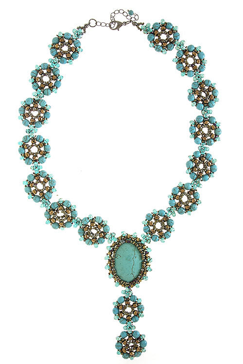 Precious Stone Turquoise Necklace - My Jewel Candy