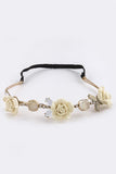 Snap-Chat Rose Flowers Headband - My Jewel Candy - 3