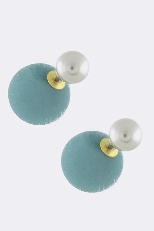 Colored Pearl Double-Sided Earrings - My Jewel Candy - 2