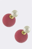 Colored Pearl Double-Sided Earrings - My Jewel Candy - 4