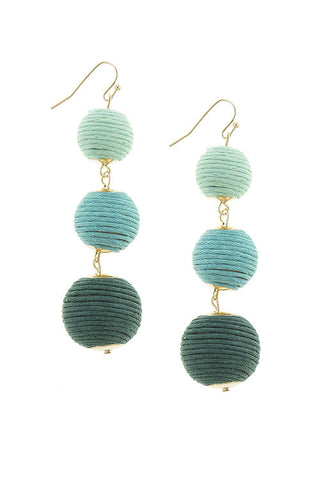 Ombre Scoops Earrings Pom Pom Earrings (As Seen in Real Simple Magazine)