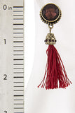 Crimson Red Tassel Earrings (As Seen in OK! Magazine) - My Jewel Candy - 5