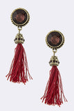 Crimson Red Tassel Earrings (As Seen in OK! Magazine) - My Jewel Candy - 2