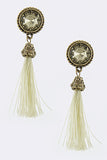 Cream Tassel Earrings (As Seen in OK! Magazine) - My Jewel Candy - 2