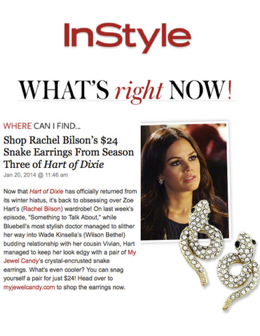 Snake Earrings (As seen on Rachel Bilson & in InStyle Magazine) - My Jewel Candy - 1