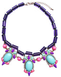 Jewel Fantasy Necklace - Purple & Turquoise - My Jewel Candy - 1