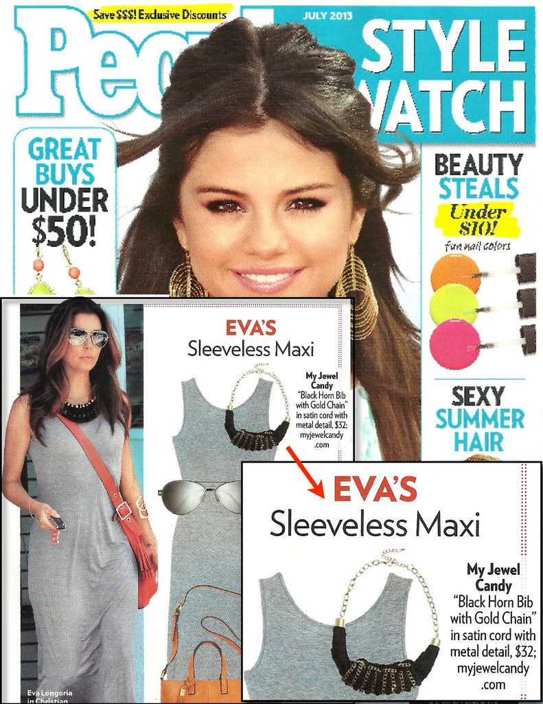 Eva Longoria Bib with Gold Chain Necklace - My Jewel Candy - 1
