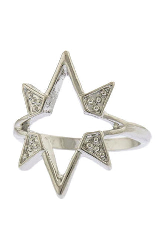 Shooting Star Knuckle Ring (Silver) - My Jewel Candy - 1