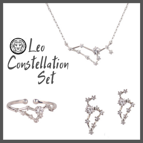 Leo Zodiac Jewelry Constellation Holiday Gift Set