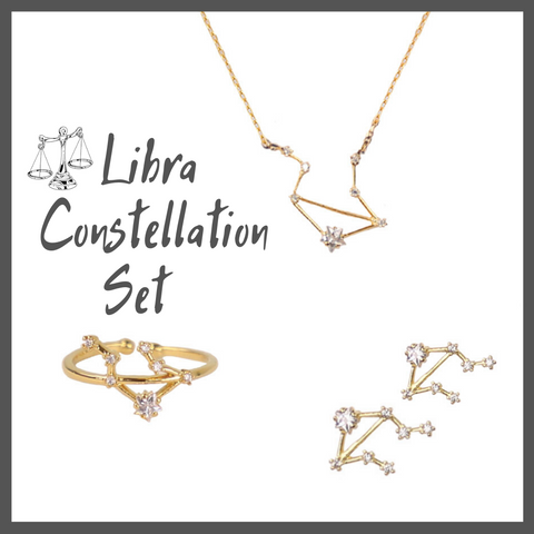 Libra Zodiac Jewelry Constellation Holiday Gift Set