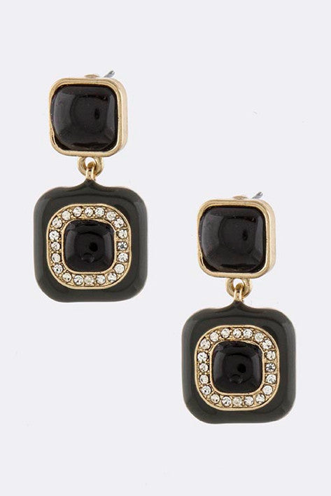 Liquorice-Squares Earrings - My Jewel Candy - 1