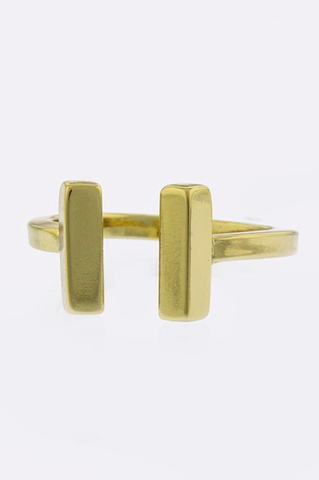 Metal Bar Accent Ring - My Jewel Candy