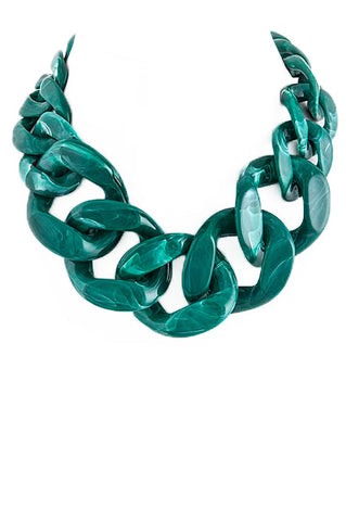 Malachite Chain Necklace - My Jewel Candy