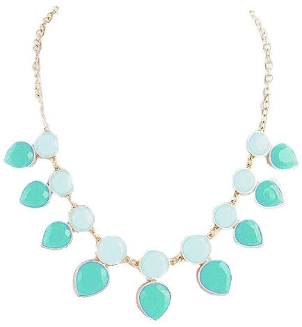 Mint & Turquoise Teardrop Necklace - My Jewel Candy