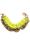 Neon & Gold Layered Chain Bracelet - My Jewel Candy - 2