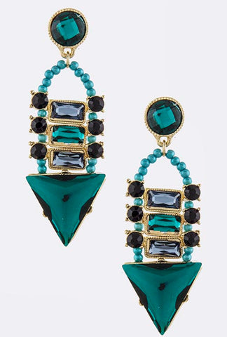 Turquoise Oceana Earrings - My Jewel Candy - 1