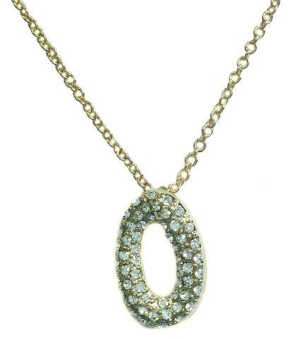"Gold Oval ""O"" Necklace - My Jewel Candy"