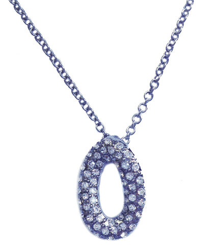 "Silver Oval ""O"" Necklace - My Jewel Candy"