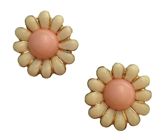 earrings vintage s daisy carved retro product ivory hand