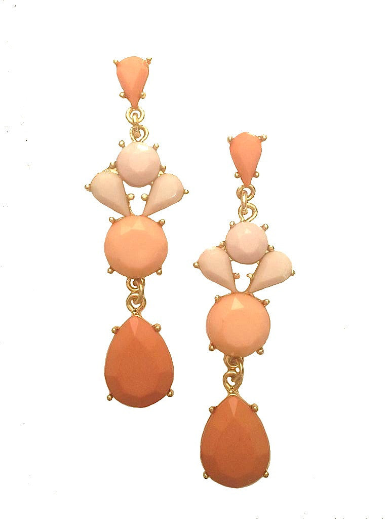 Peachy-Keen Dangle Earrings - My Jewel Candy