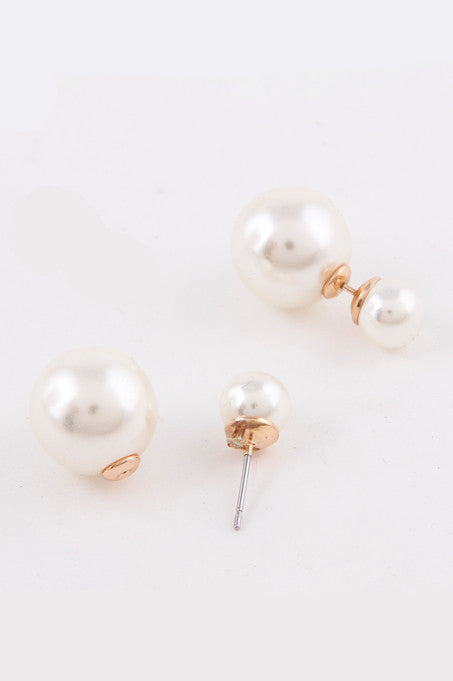 Pearl Double-Sided Earrings (As seen in Good Housekeeping Magazine) - My Jewel Candy - 1
