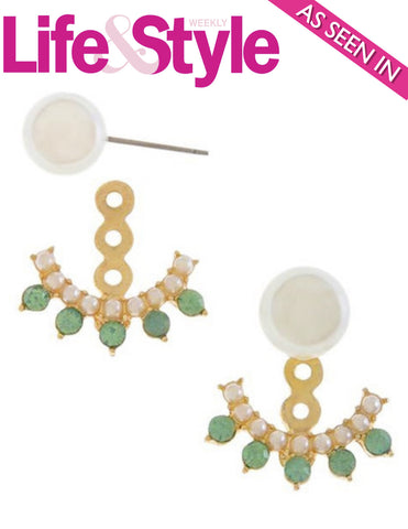 Peek-a-boo Pearl Double-Sided Ear Jackets as seen in Life & Style Magazine - My Jewel Candy - 1