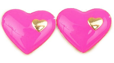 Love in Love Pink Stud Earrings - My Jewel Candy
