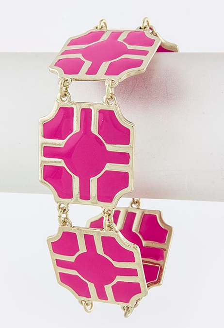 Pink Cut-Out Bracelet - My Jewel Candy - 1
