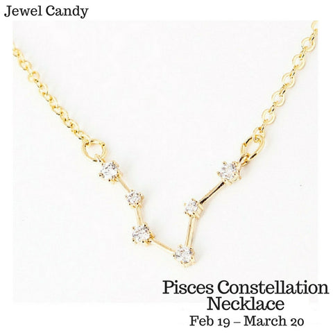 Pisces Constellation Zodiac Necklace - As seen in Real Simple, People Magazines & more!