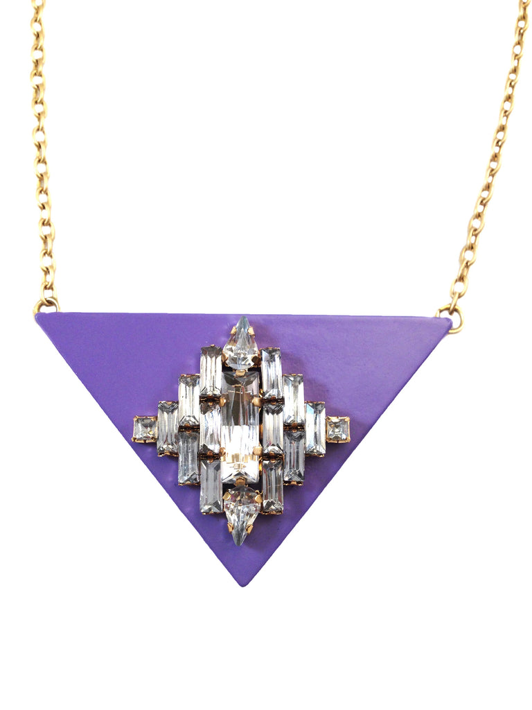 Triangle Jewel Lavender Necklace - My Jewel Candy - 1