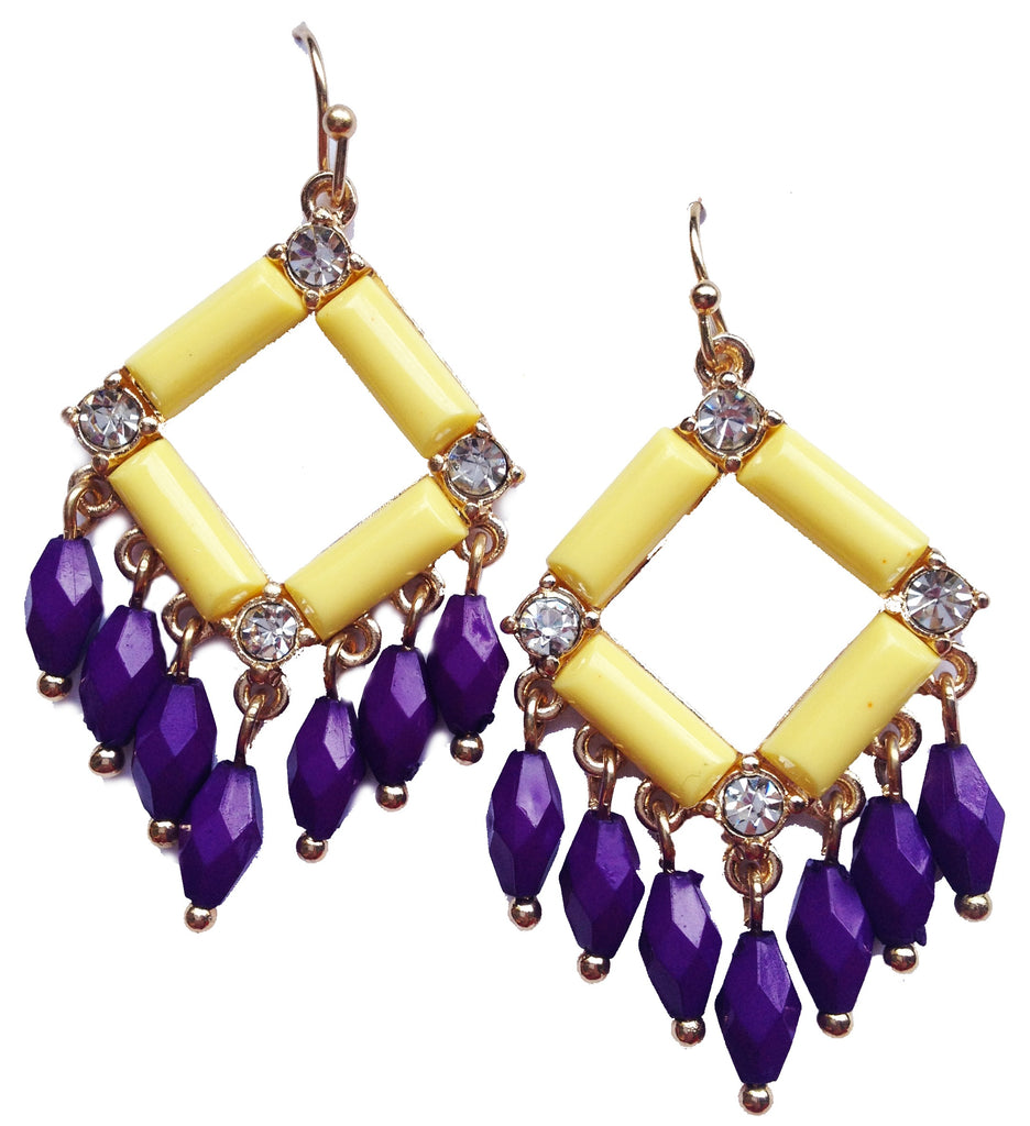 Lemon Sorbet & Plum Earrings - My Jewel Candy