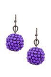 Cream Dangle Disco Ball Earrings - My Jewel Candy - 5