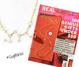 Sagittarius Constellation Zodiac Necklace (11/23-12/22) - As seen in Real Simple & People Magazine - My Jewel Candy - 1