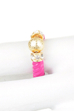 Gold Ball & Crystal Pink Ring - My Jewel Candy - 2