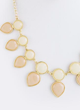 Beige Round and Teardrop Necklace - My Jewel Candy - 2