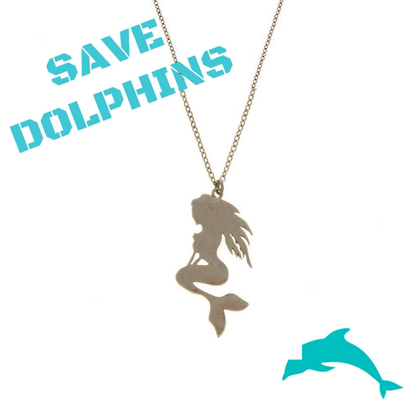 Save the Dolphins Mermaid Necklace - My Jewel Candy - 1