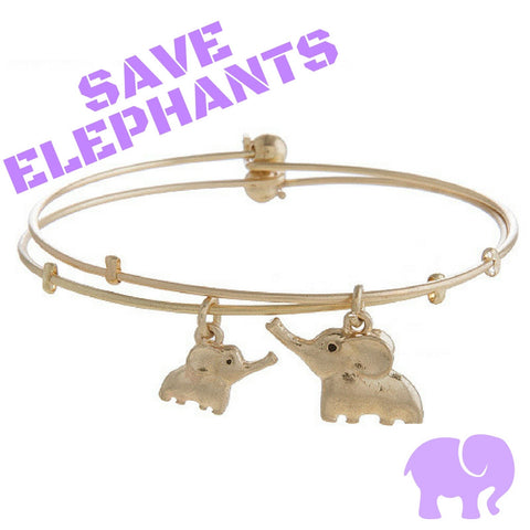 Save the Elephants Mommy & Me Dual-Bracelets - My Jewel Candy - 1