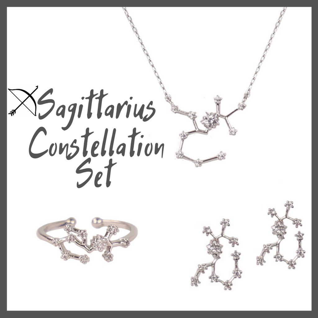 Sagittarius Zodiac Jewelry Constellation Holiday Gift Set