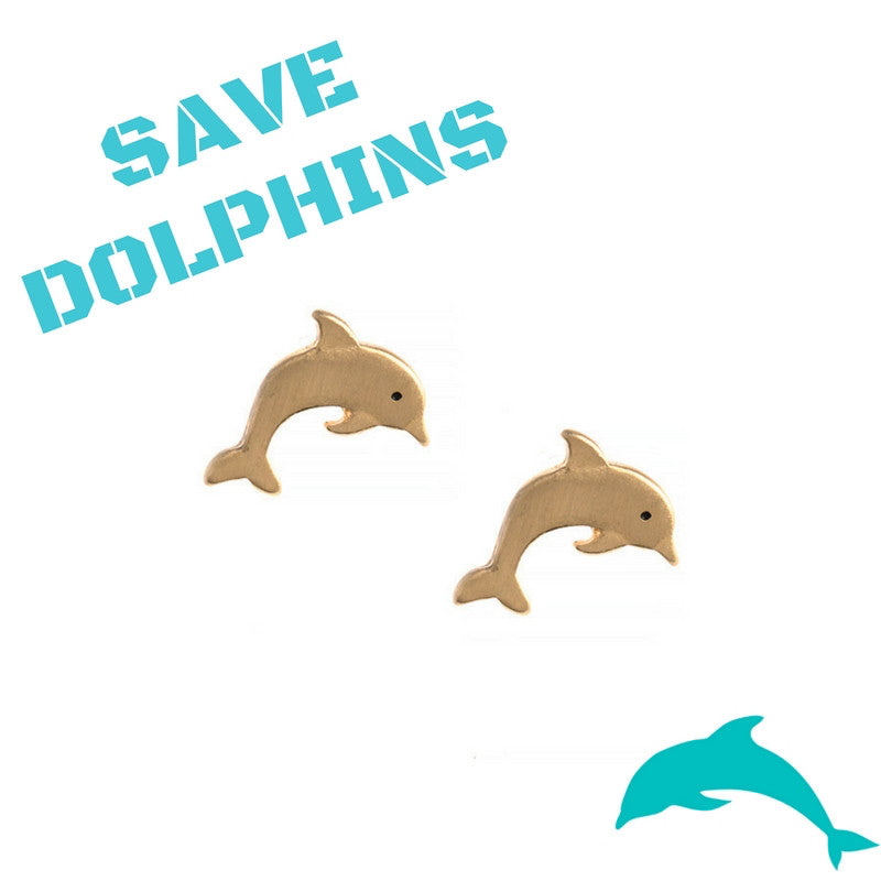 Save the Dolphins Mini Earrings - My Jewel Candy - 1