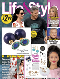 Navy & Turquoise Earrings Double Sided Earrings (As seen in Life & Style Magazine)