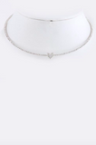 Crystal Heart Collar Necklace - My Jewel Candy - 3