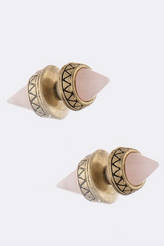 Cone Double-Sided Earrings - My Jewel Candy - 1