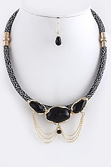 Gold Black  necklace - My Jewel Candy