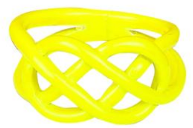 Neon Dipped Pretzel Ring