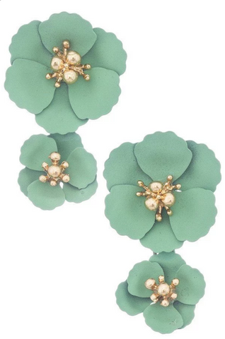 """Good Housekeeping"" Flower Earrings"