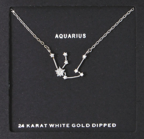 Aquarius Zodiac Birthday Necklace