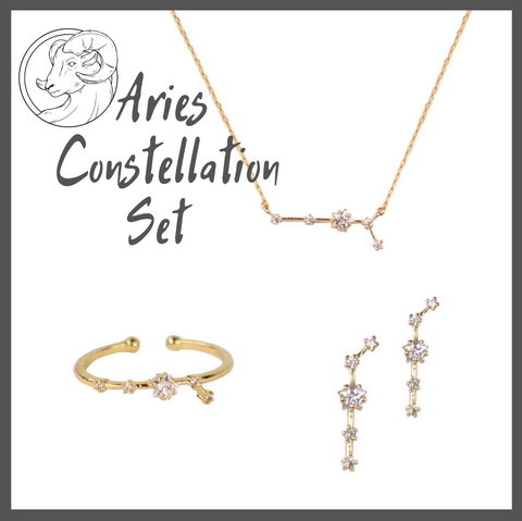 Aries Zodiac Jewelry Constellation Holiday Gift Set